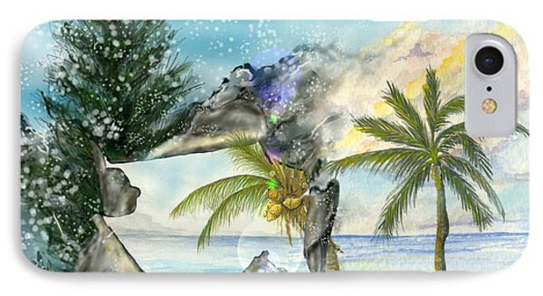 IPhone Case featuring the digital art Winter Vacation by Darren Cannell