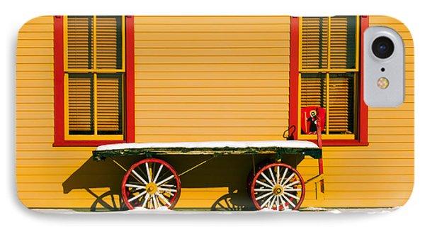 Winter Wagon IPhone Case by Todd Klassy