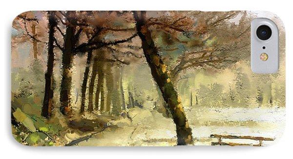 Winter Walk IPhone Case by Carrie Joy Byrnes