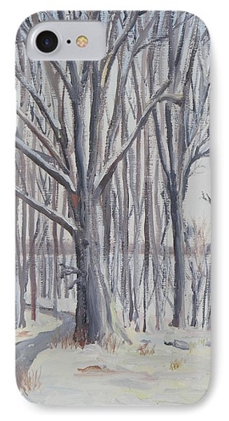 Winter Walk IPhone Case by Robert P Hedden