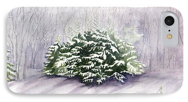 IPhone Case featuring the painting Winter Wind by Melly Terpening