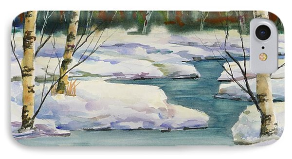 Cool Winter -  Watercolour IPhone Case by Mohamed Hirji