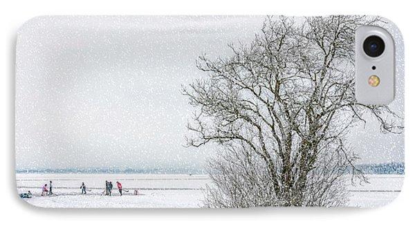 Winter Wonderland Frozen Lake IPhone Case by Antony McAulay