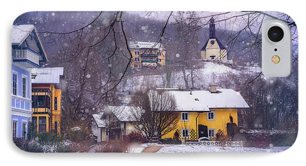 Winter Wonderland In Mondsee Austria  IPhone Case by Carol Japp