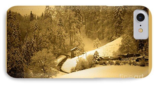 IPhone Case featuring the photograph Winter Wonderland In Switzerland - Up The Hills by Susanne Van Hulst