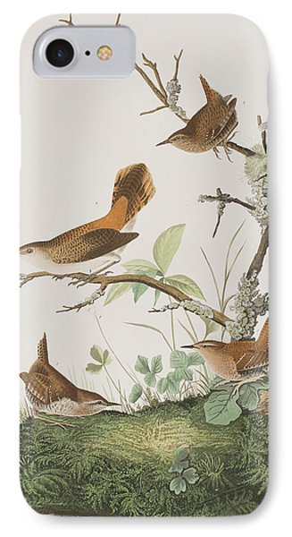 Winter Wren Or Rock Wren IPhone Case by John James Audubon