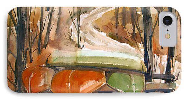 IPhone Case featuring the painting Wintering Over by Charlie Spear
