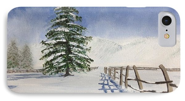 IPhone Case featuring the painting Winter's Beauty by Cynthia Morgan