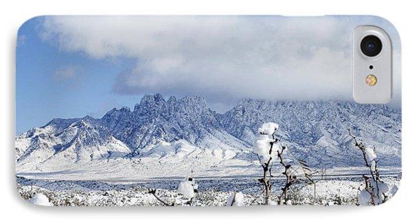 IPhone Case featuring the photograph Organ Mountains Winter Wonderland by Kurt Van Wagner