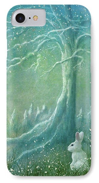 IPhone Case featuring the digital art Winters Coming by Ann Lauwers