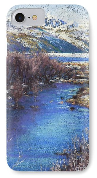 Winter's Edge, Flat Creek Jackson Phone Case by Louise Green