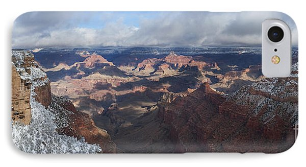 Winter's Grasp At The Grand Canyon Phone Case by Sandra Bronstein