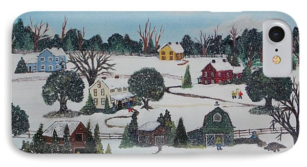 Winters Last Snow IPhone Case by Virginia Coyle