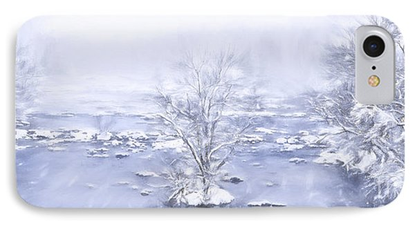 IPhone Case featuring the painting Winters Roar II by Dan Carmichael
