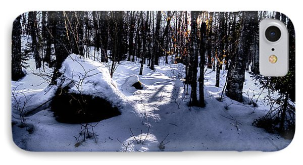 IPhone Case featuring the photograph Winters Shadows by David Patterson