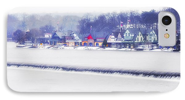 Wintertime At The Fairmount Dam And Boathouse Row IPhone Case by Bill Cannon