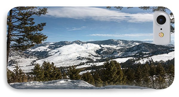 IPhone Case featuring the photograph Wintertime View From Hellroaring Overlook In Yellowstone National Park by Carol M Highsmith