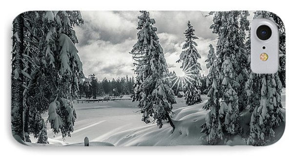 Winter Wonderland Harz In Monochrome IPhone Case by Andreas Levi