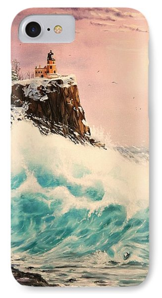 Wintery Northern Lighthouse  IPhone Case by Ruanna Sion Shadd a'Dann'l Yoder