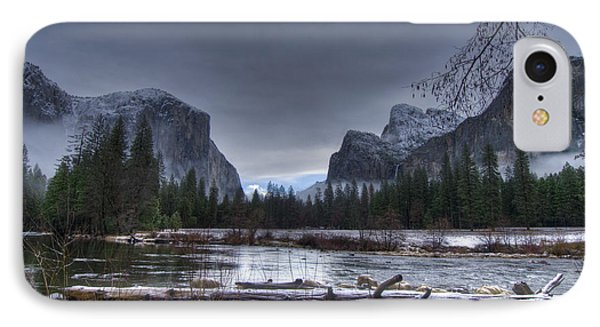 Wintery Yosemite Valley View IPhone Case