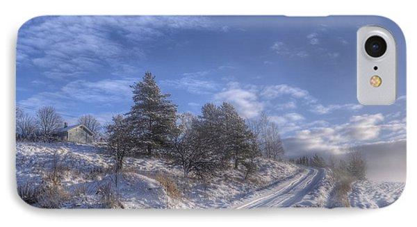 Wintry Road IPhone Case by Veikko Suikkanen