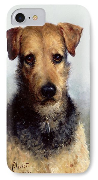 Wire Fox Terrier IPhone Case by Lilian Cheviot