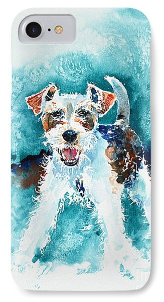 Wire Fox Terrier IPhone Case by Zaira Dzhaubaeva