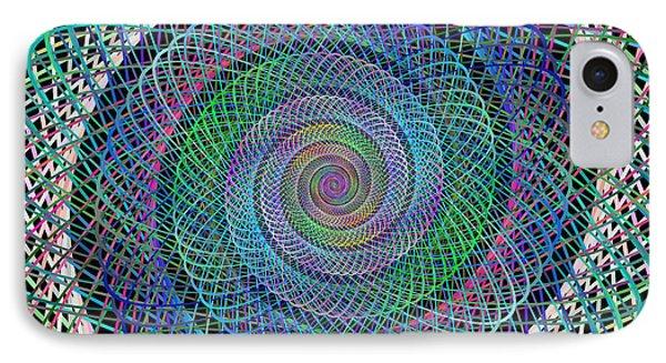 Wire Spiral IPhone Case by David Zydd