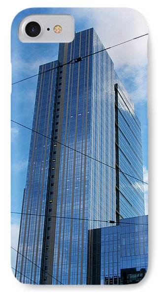 IPhone Case featuring the photograph Wired In Seattle - Skyscraper Art Print by Jane Eleanor Nicholas