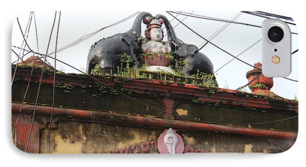 Wires And Lakshmi At Devi Temple, Kochi IPhone Case by Jennifer Mazzucco