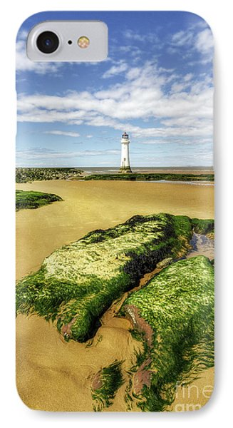 IPhone Case featuring the photograph Wirral Lighthouse by Ian Mitchell
