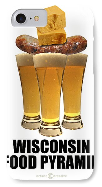 Wisconsin Food Pyramid IPhone Case by Tim Nyberg