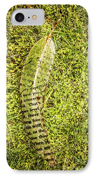 Wisdom In Nature IPhone Case