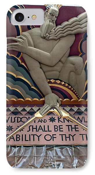 Wisdom Lords Over Rockefeller Center IPhone Case