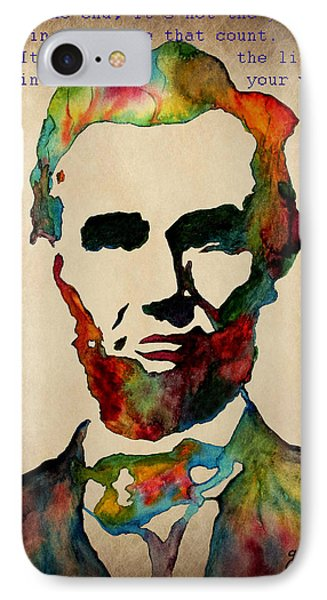 Wise Abraham Lincoln Quote IPhone Case by Georgeta  Blanaru