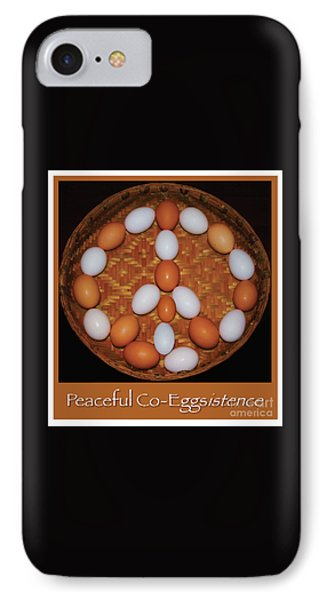 Wish For Peaceful Co-eggistence  IPhone Case