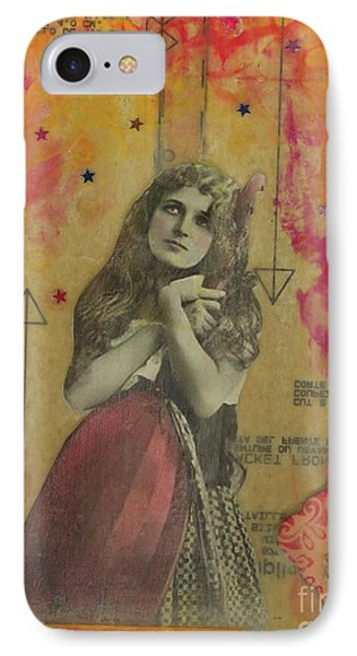 IPhone Case featuring the mixed media Wish Upon A Star by Desiree Paquette