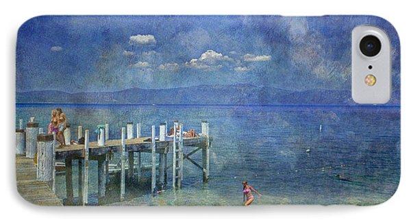 IPhone Case featuring the photograph Wish You Were Here Chambers Landing Lake Tahoe Ca by David Zanzinger
