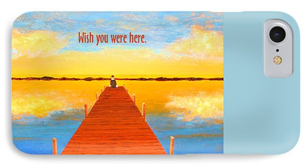 Wish - Pier - Greeting Card IPhone Case