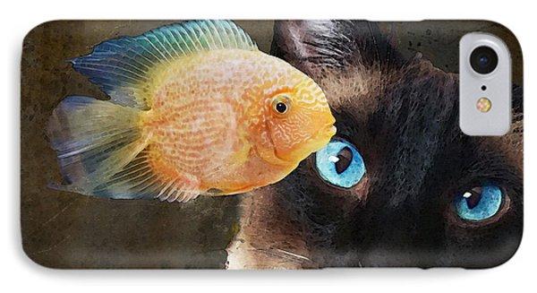 Wishful Thinking 2 - Siamese Cat Art - Sharon Cummings IPhone 7 Case