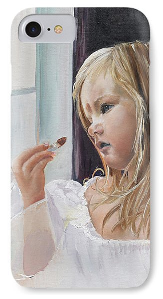 IPhone Case featuring the painting Wishful Thinking - Megan - Signed by Jan Dappen