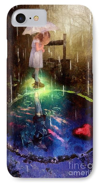 IPhone Case featuring the painting Wishing Well by Mo T