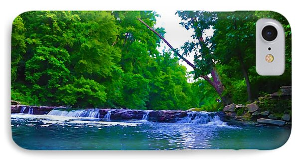 Wissahickon Waterfall Phone Case by Bill Cannon