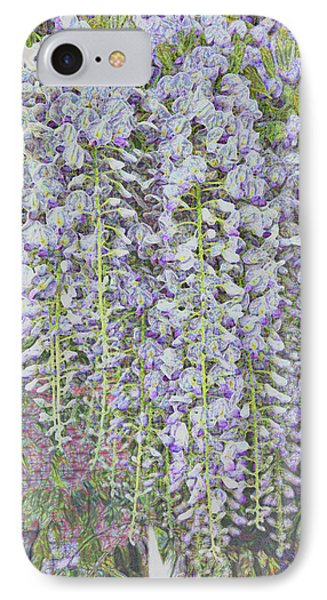 IPhone Case featuring the photograph Wisteria Before The Hail by Nareeta Martin