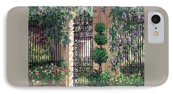Wisteria Gate IPhone Case by Laurie Hein