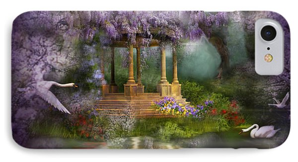 Wisteria Lake IPhone Case by Carol Cavalaris