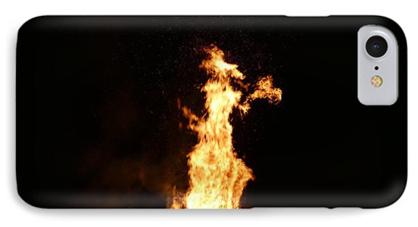 Witch In The Fire IPhone Case by James Johnson