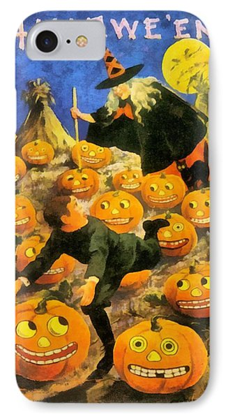 Witch In The Pumpkin Patch IPhone Case by Unknown