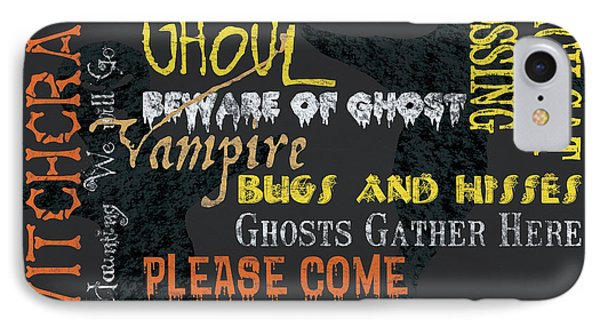 Witchcraft Typography IPhone Case by Debbie DeWitt