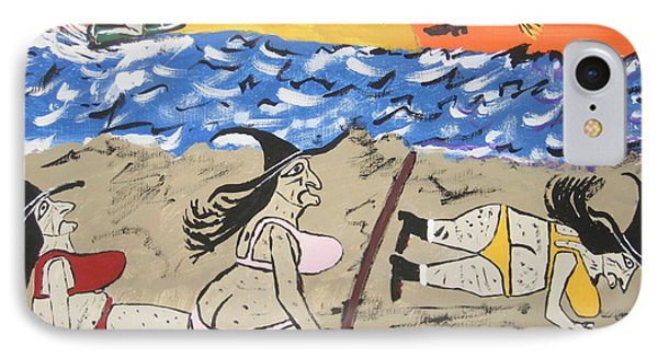 Witches Day At The Beach IPhone Case by Jeffrey Koss